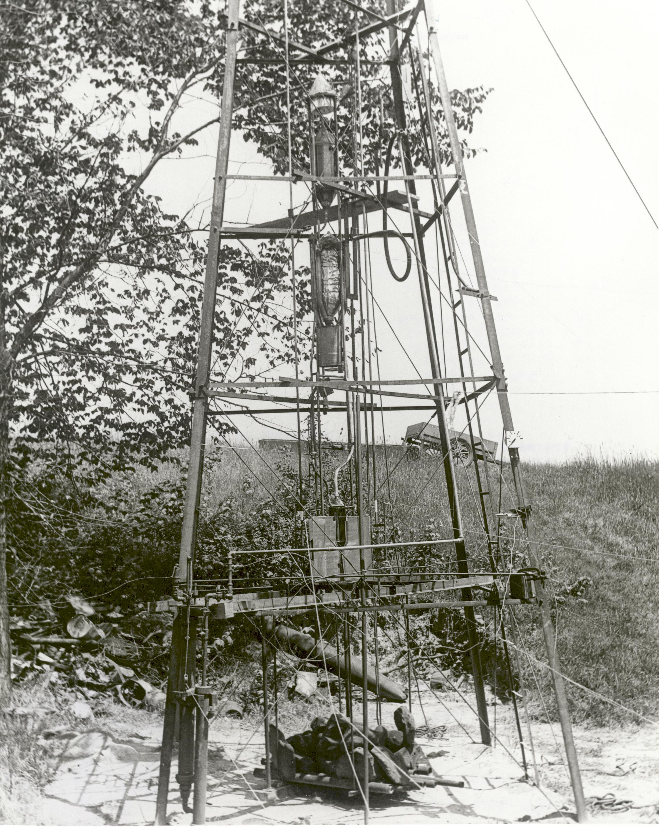 Robert H Goddard Liquid Fuel Rocket