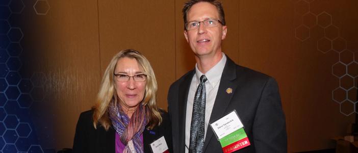 SMA President's Award - Genie Bopp (In photo - Genie Bopp and Steve Vander Ark)