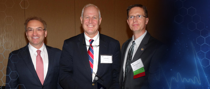 Jeffrey P. Sutton Scientific Achievement Award - Jay C. Buckey, Jr., MD (In photo - Dr. Jeff Sutton; Dr. Jay Buckey; Steve Vander Ark)